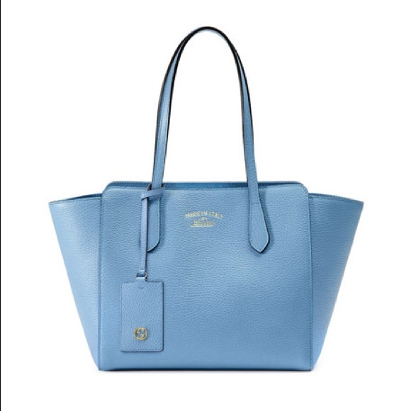 838d3c3b0c05 Gucci Bags | Swing Leather Tote Mineral Blue | Poshmark